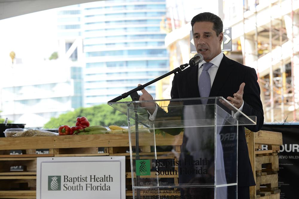 Miami-Dade County Public Schools Superintendent Alberto Carvalho speaking.